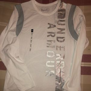 Under Armour silver/white long sleeve tee